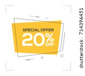 special offer 20  off concept | Shutterstock .eps vector #714396451