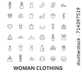 woman clothing  clothes ... | Shutterstock .eps vector #714397519