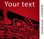 grunge circuit board effect in... | Shutterstock .eps vector #71440630