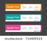 vector abstract web banner...   Shutterstock .eps vector #714409315