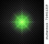 vector green glowing lights on... | Shutterstock .eps vector #714411319