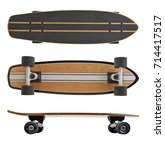 Black And Wooden Skate Board...