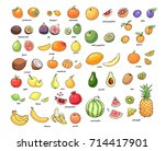 set of vector illustration of... | Shutterstock .eps vector #714417901