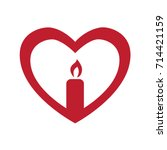 heart candle logo.  suitable... | Shutterstock .eps vector #714421159