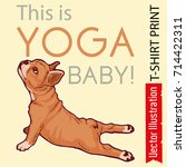 poster   this is yoga baby.... | Shutterstock .eps vector #714422311