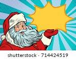 santa claus promotinal copy... | Shutterstock .eps vector #714424519