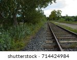 railroad tracks are running... | Shutterstock . vector #714424984