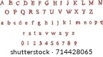 red gothic font   vintage... | Shutterstock .eps vector #714428065
