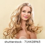 gorgeous hair. beauty fashion... | Shutterstock . vector #714428965