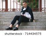 modern social media... | Shutterstock . vector #714434575