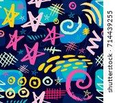 creative seamless pattern.... | Shutterstock .eps vector #714439255