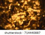 glowing bronze lights... | Shutterstock . vector #714440887