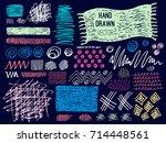 set brush stroke. brush  pen ... | Shutterstock .eps vector #714448561