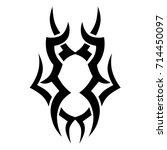 tattoo tribal vector design.... | Shutterstock .eps vector #714450097