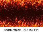 blaze fire flames with sparks... | Shutterstock .eps vector #714451144