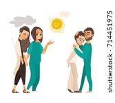 vector falt mental patients set....   Shutterstock .eps vector #714451975