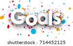 goals paper sign with color... | Shutterstock .eps vector #714452125