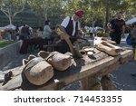 barcelona  11th of september...   Shutterstock . vector #714453355