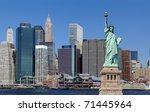 the landmark statue of liberty...   Shutterstock . vector #71445964