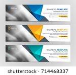 abstract web banner design... | Shutterstock .eps vector #714468337