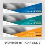 abstract web banner design... | Shutterstock .eps vector #714468379
