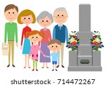 visit to a grave | Shutterstock .eps vector #714472267