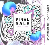 summer sale banner. square....   Shutterstock .eps vector #714473395
