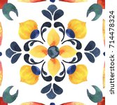 detail of the traditional tiles ... | Shutterstock . vector #714478324