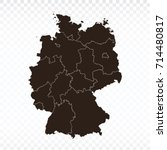 map germany map. each city and... | Shutterstock .eps vector #714480817