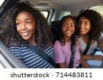 family with teenage children in ... | Shutterstock . vector #714483811
