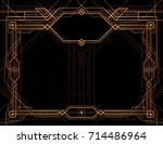gatsby frame vector  abstract... | Shutterstock .eps vector #714486964