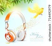 realistic white orange... | Shutterstock .eps vector #714492979