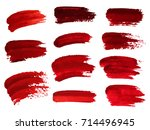 red oil brush strokes similar... | Shutterstock .eps vector #714496945