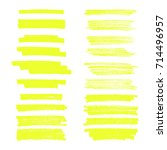 vector highlighter brush lines. ... | Shutterstock .eps vector #714496957