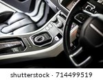 car inside. interior of... | Shutterstock . vector #714499519
