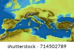 map of the mediterranean sea... | Shutterstock . vector #714502789