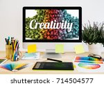 stationery desktop with design ...