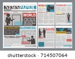 newspaper online template... | Shutterstock .eps vector #714507064