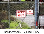 Keep Out No Trespassing Sign A...