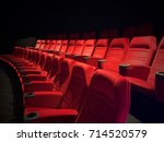 new unused red theater seats... | Shutterstock . vector #714520579