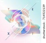 fluid poster design. abstract... | Shutterstock .eps vector #714522139