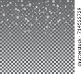 christmas winter transparent...   Shutterstock .eps vector #714523729