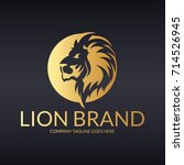 lion brand logo. easy to change ... | Shutterstock .eps vector #714526945