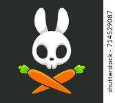 Cartoon Rabbit Skull With...