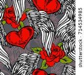 graphic old school rockabilly... | Shutterstock .eps vector #714534985