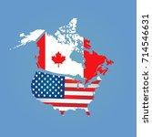 canada  usa | Shutterstock . vector #714546631