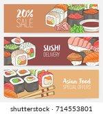 colorful horizontal banner... | Shutterstock .eps vector #714553801
