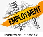 employment word cloud collage ... | Shutterstock .eps vector #714554551