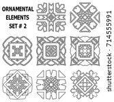 ornamental elements set.... | Shutterstock .eps vector #714555991