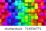 abstract background of colored... | Shutterstock . vector #714556771